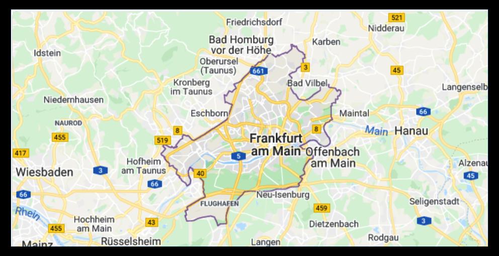 Karte Frankfurt am Main