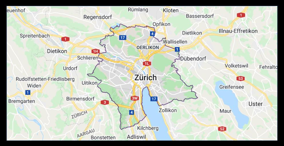 Karte Zuerich
